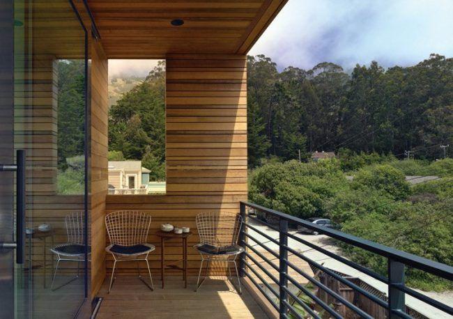 Balkon Sichtschutz Holz Paravent Windschutz Nordseite Schoene