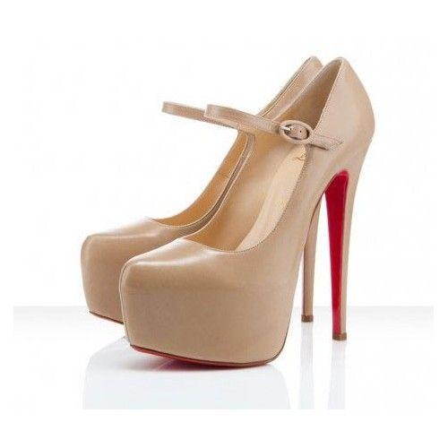 762021ed32e Red Bottom Shoes Beige Mary Jane
