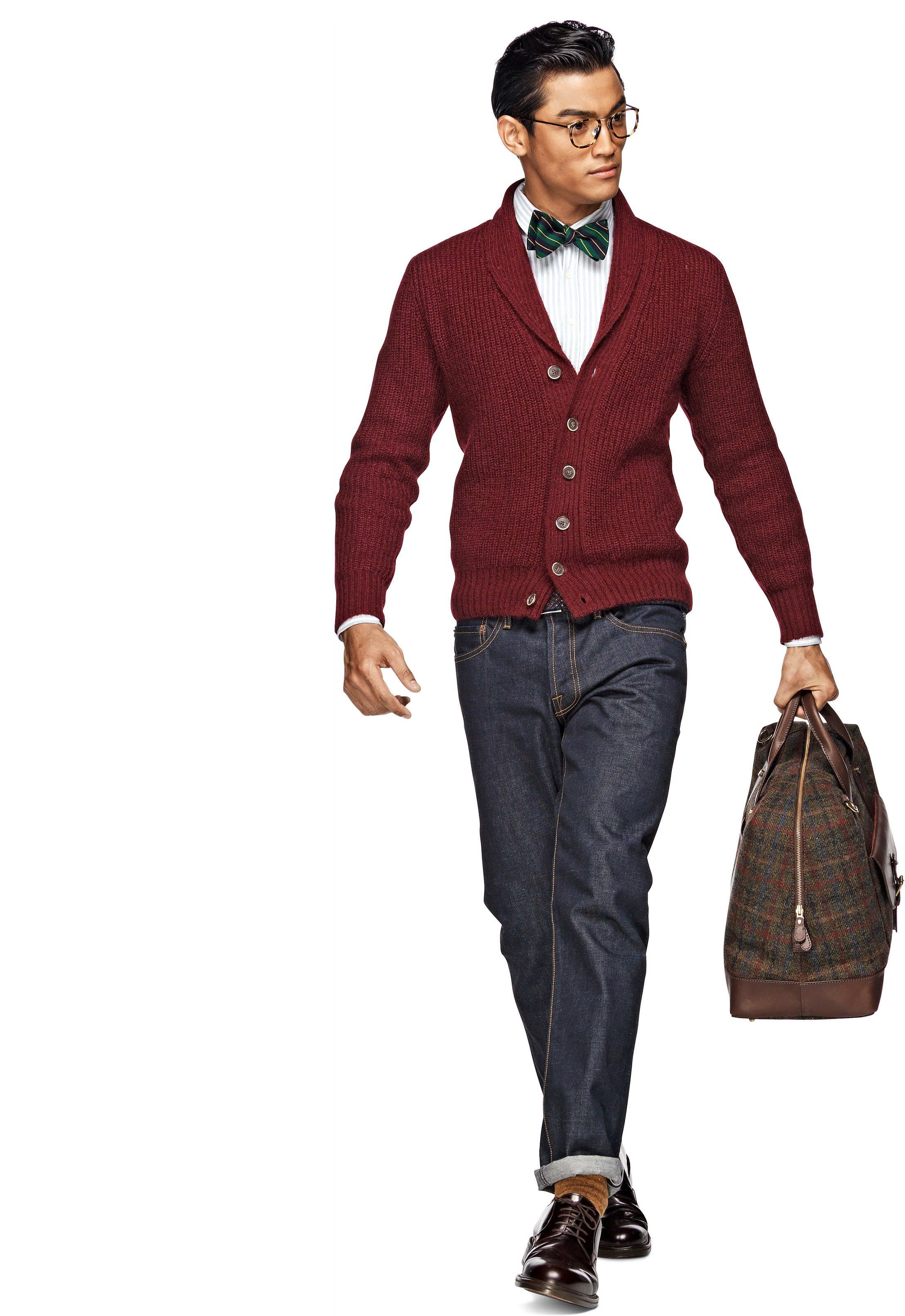Cardigan Burgundy Sw362 | Suitsupply Online Store | suits & things ...