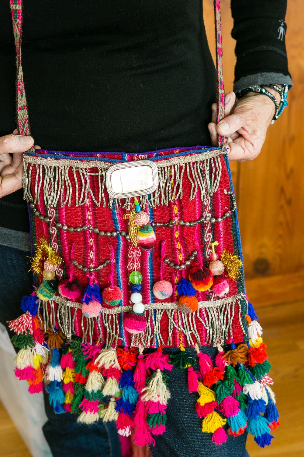 Accessorized Peruvian Bag One Of A Kind Handwoven From
