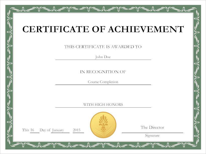 Certificate Example School Leaving Certificate
