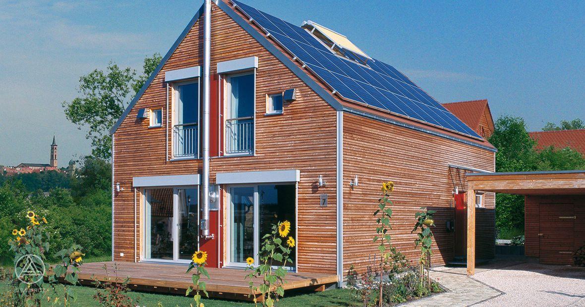 Energiesparhaus Plusenergiehaus Roth Aussenkamin