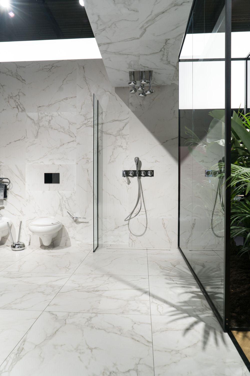 The Best Ways To Use Carrara Marble In Interior Design Modern Shower Design Bathroom Inspiration Decor Modern Bathroom Decor Bathroom ideas carrara marble