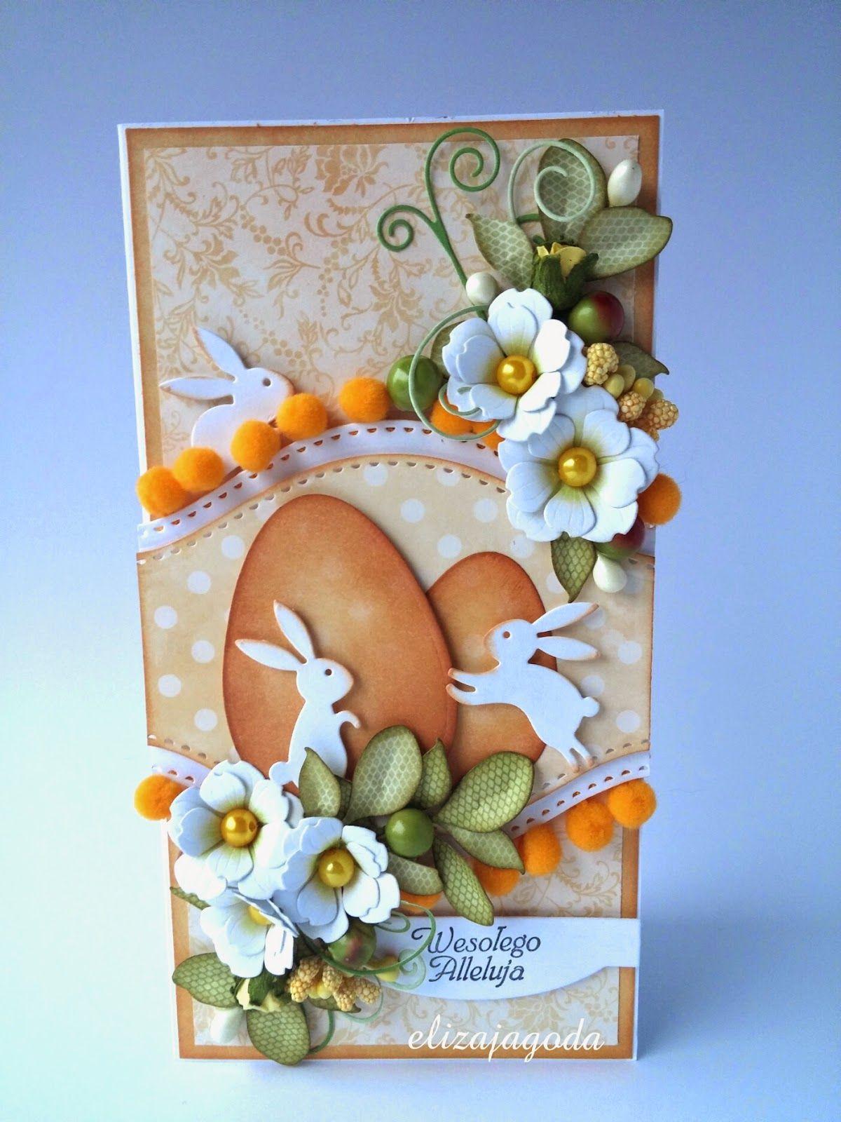 Craftsart Kartka Na Wielkanoc Easter Cards Handmade Easter Greeting Cards Easter Bunny Cards