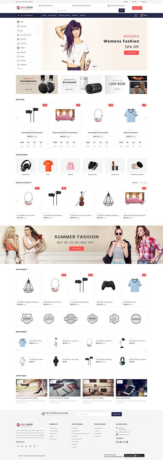 Free Room Design Tool: The Multi Store Template Is A Good Choice