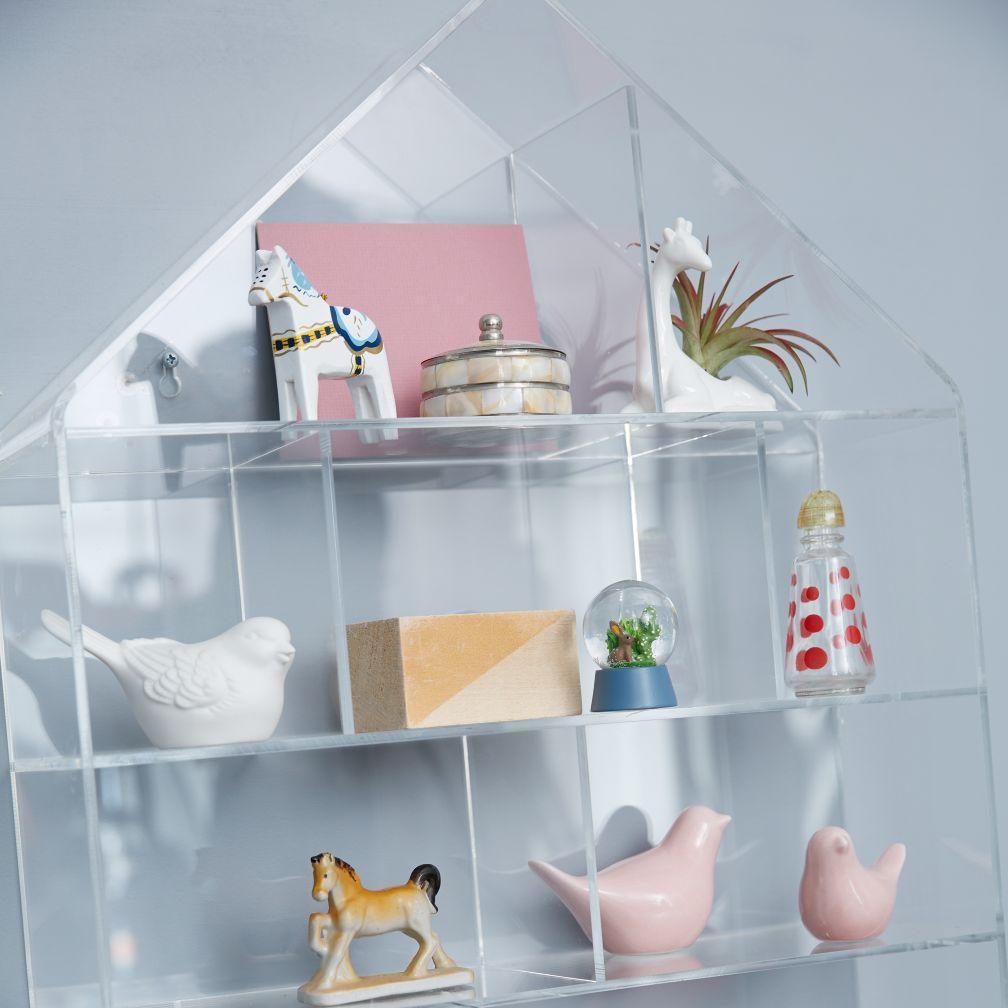 Thread/Notions/knickknack storage (Acrylic House Wall Shelf | The ...