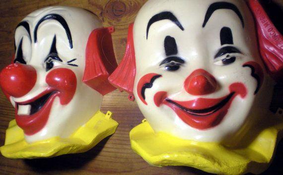 Vintage Carnival Clown Faces by mygrandmaandme on Etsy