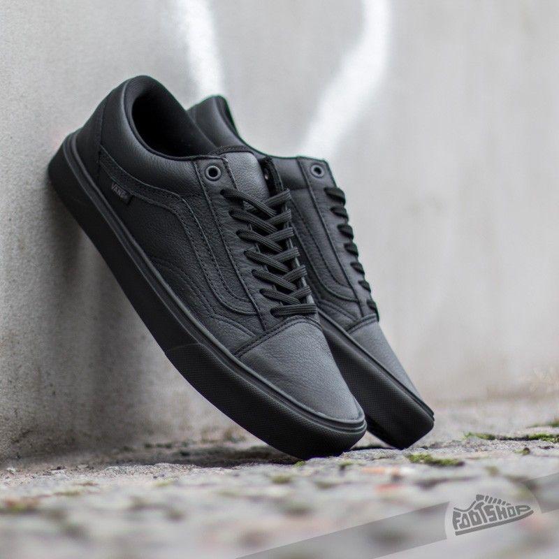 Vans Old Skool Lite Leather Black Black S Izobrazheniyami