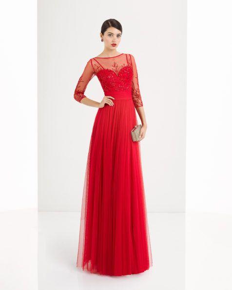 vestido de tul y pedreria disponible en, rojo, marino y plata