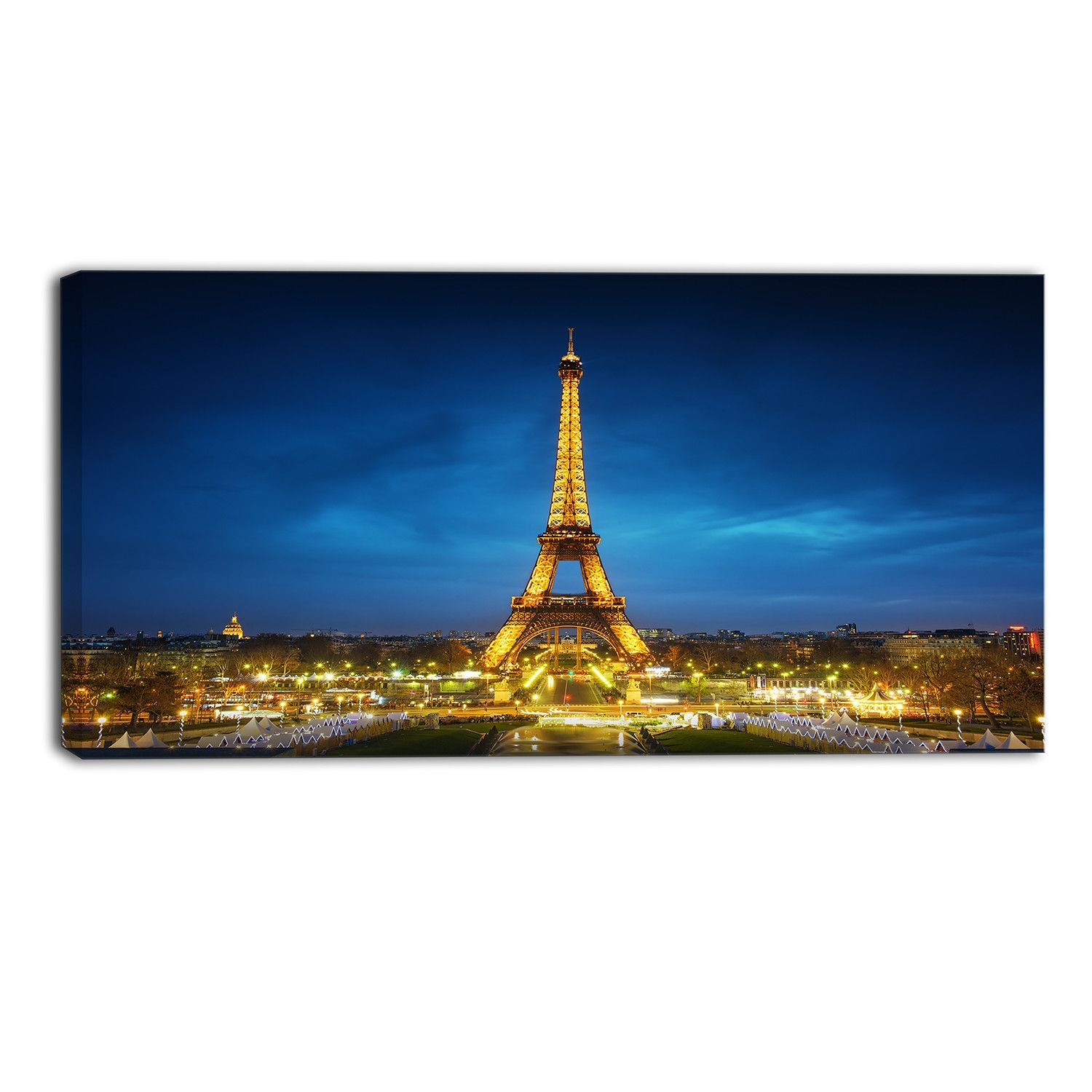 Paris Cityscape at Sunset Photographic Print on Wrapped Canvas