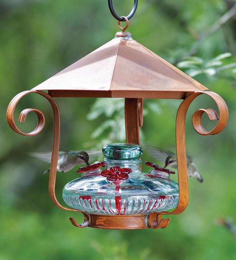 Shelter Hummingbird Feeder Glass hummingbird feeders