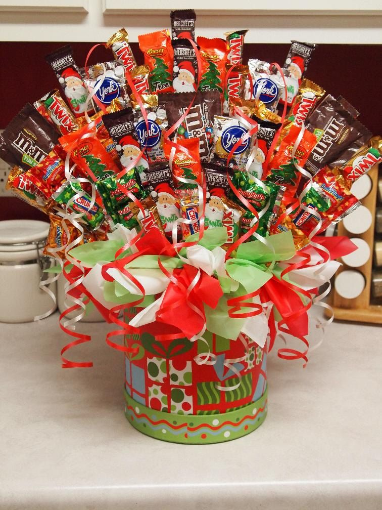 Christmas candy bouquet via etsy fun ideas