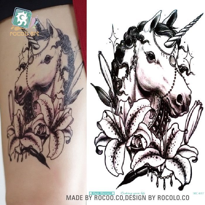 064e5bd47 MC697 19X12cm HD Large Tattoo Sticker Body Art War Horse Temporary Tattoo  Terrorist Stickers Flash Taty Tatoo