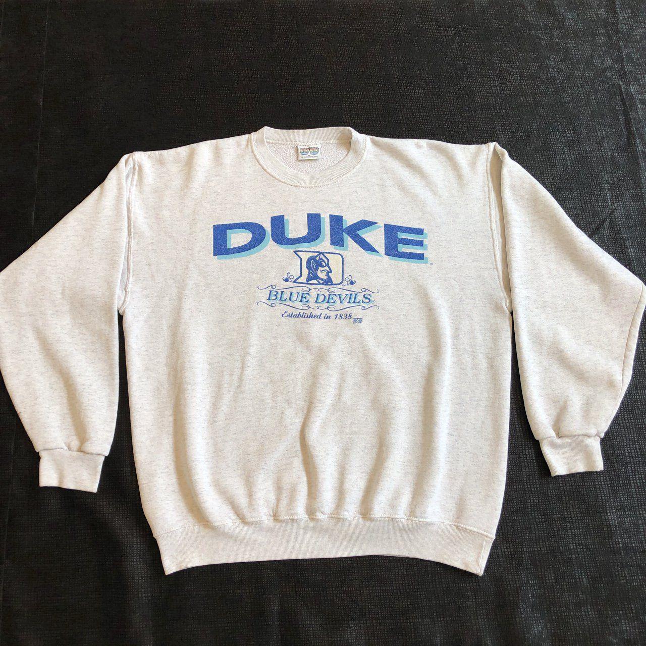 Vintage Duke Blue Devils Crewneck Sweatshirt By 20 Depop Vintage Crewneck Sweatshirt Crewneck Sweatshirt Outfit Vintage College Sweatshirts [ 1280 x 1280 Pixel ]