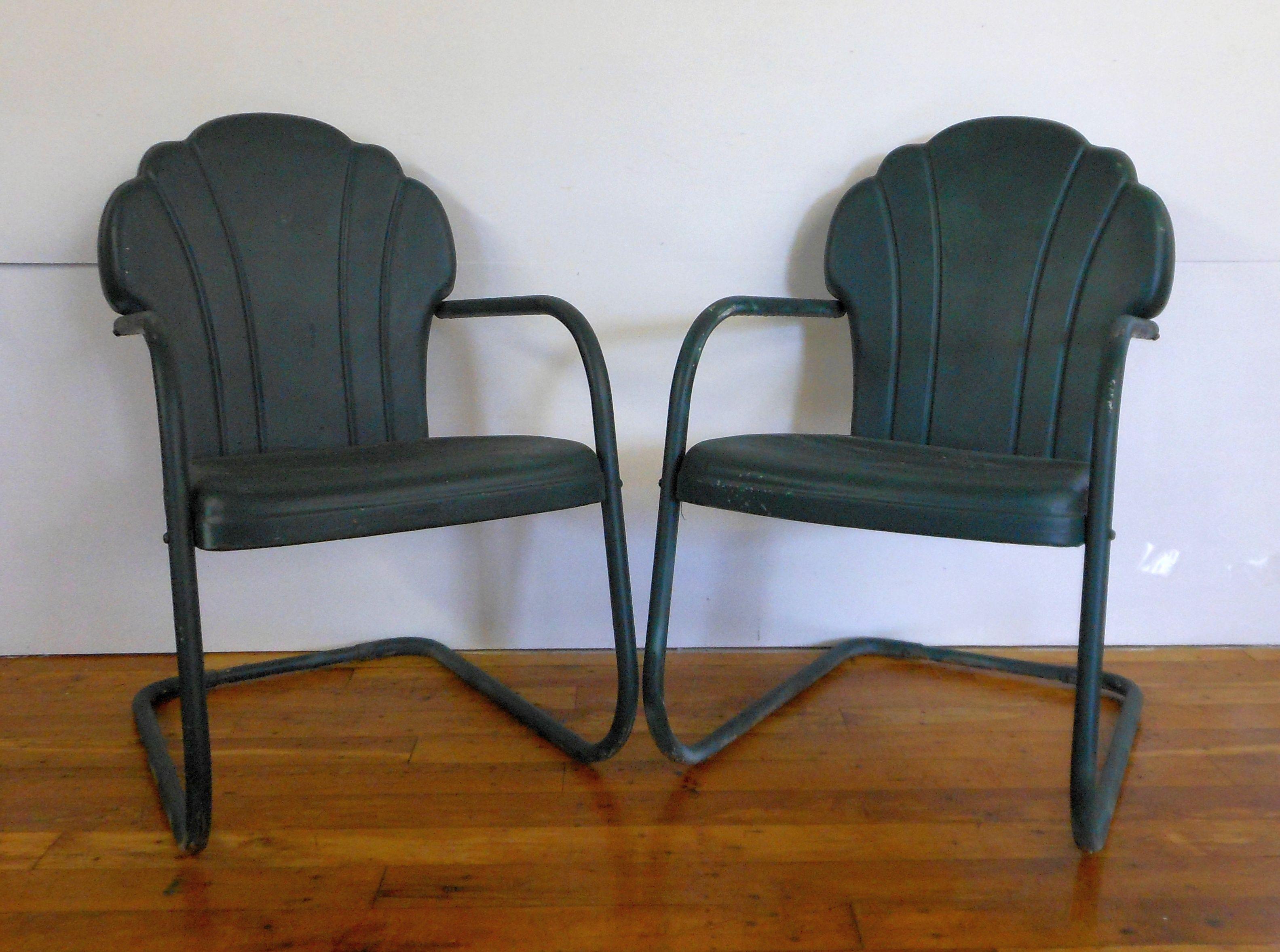 Vintage metal outdoor furniture - Vintage Metal Rockers Metal Patio Chairs Vintage Thefairs