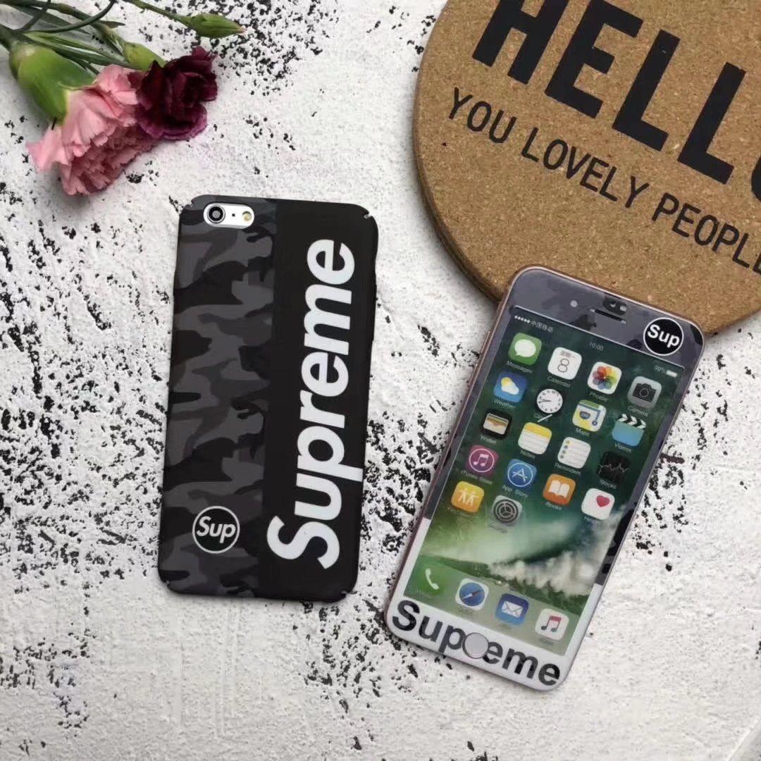 迷彩アイフォンXケース人気ブランドSupremeシュプリームiPhone6s/6splus/7/7plus携帯
