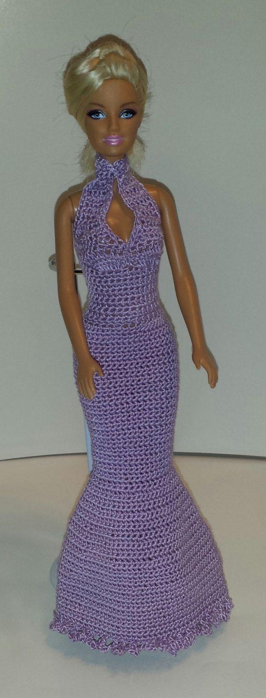 Crochet Barbie Dress, Fashion Doll Crocheted Clothing, Handmade Barbie Clothes…