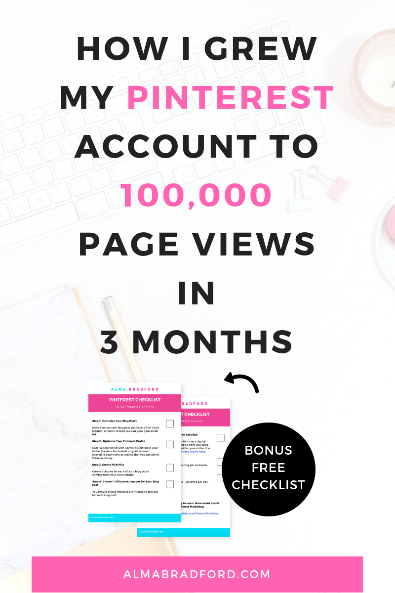 Almaemail how i grew my pinterest account to over 100k page views