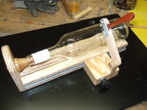 glasflaschenschneider bauanleitung zum selber bauen selber machen flaschenschneider. Black Bedroom Furniture Sets. Home Design Ideas