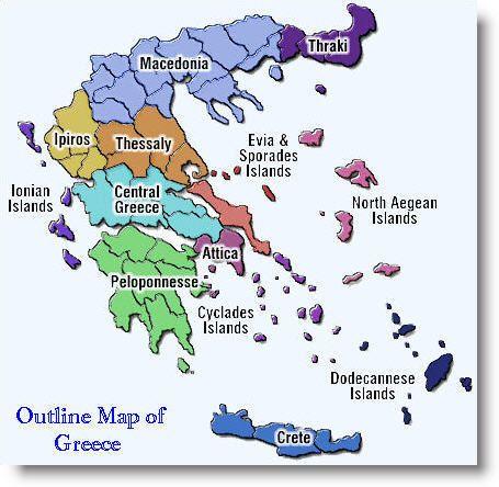 Map of Greek Islands World of Maps Pinterest Greek islands