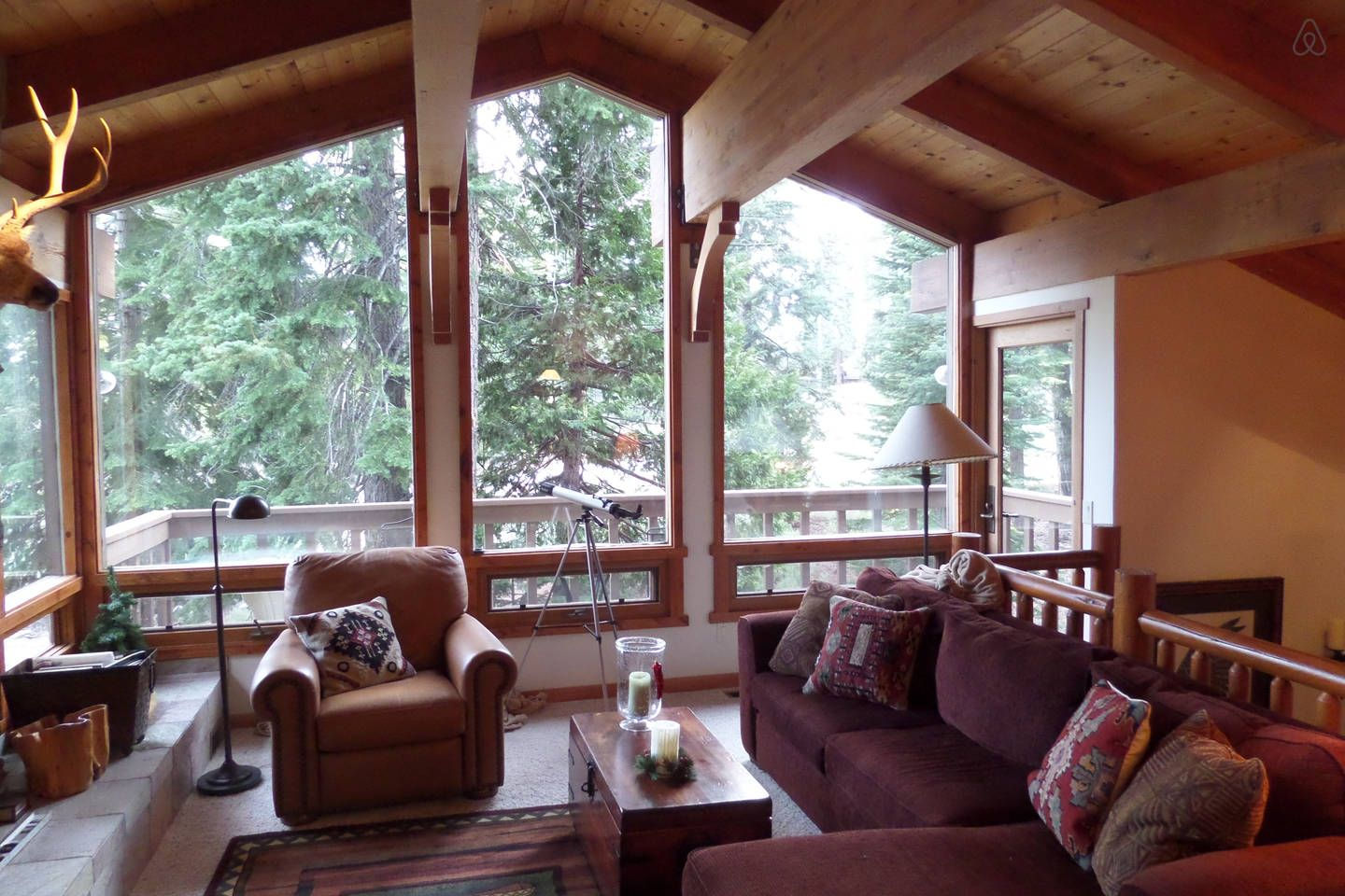 Beautiful tahoe cabin in the woods vacation rental in
