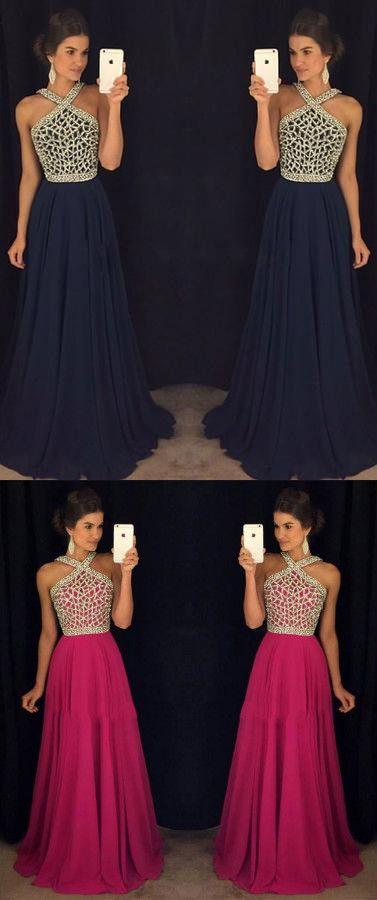 navy blue prom dresses,beaded prom