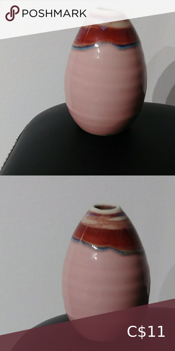 Petite pink homeaccent vase Pretty in pink petite homeaccent vase. Use this as decor to add a simple touch to your home. 3