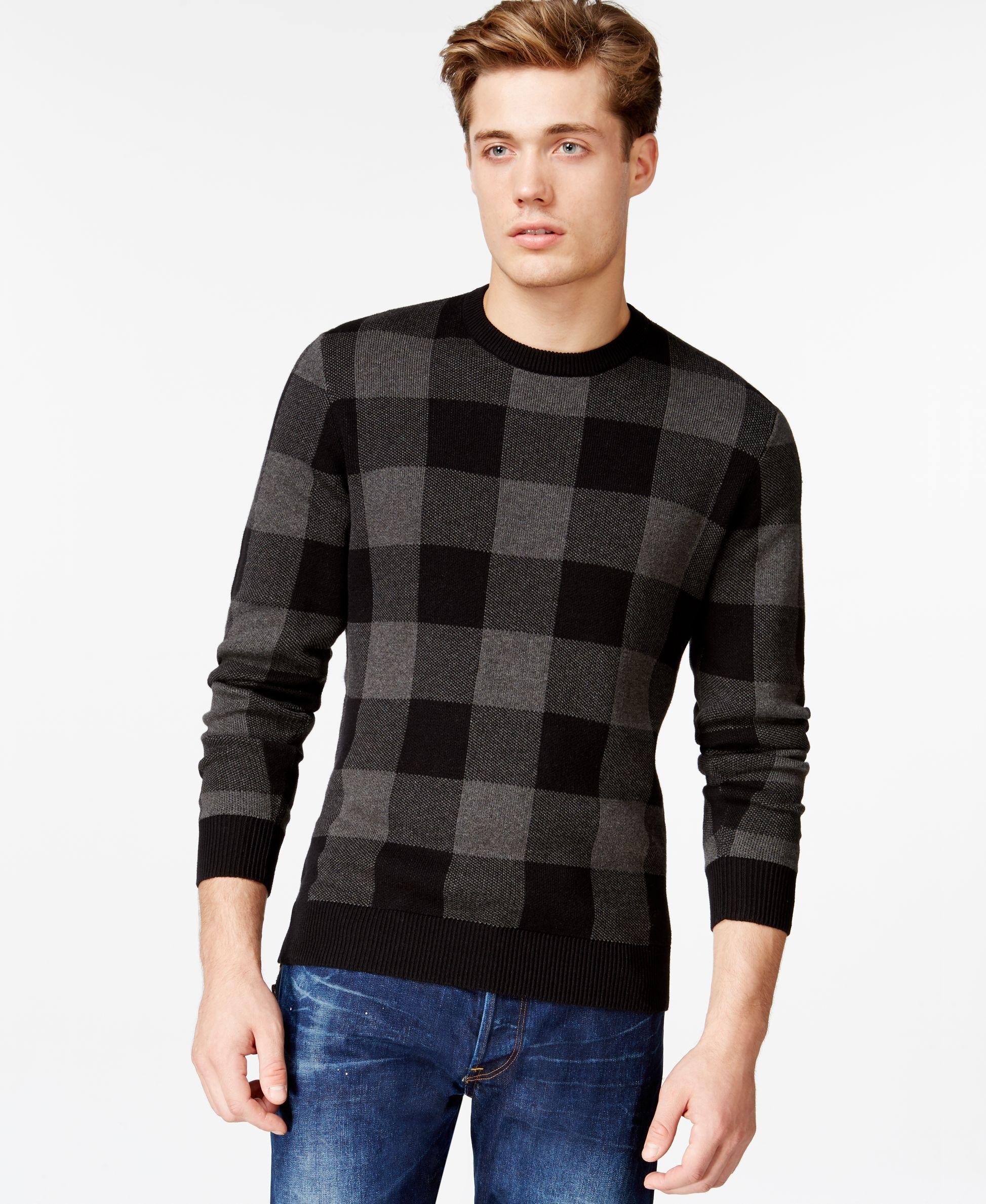 American Rag Plaid Jacquard Sweater