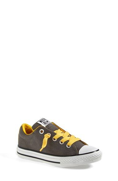 Children and Young. Converse Chuck Taylor All Star Street OX in grey with  yellow laces 70ffc1317