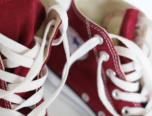 Red All Star Hi-Top Sneakers by Converse
