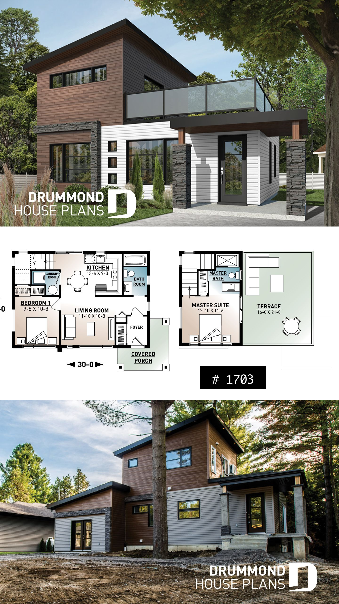 Discover The Plan 1703 Joshua Which Will Please You For Its 2 Bedrooms And For Its Contemporary Styles Modern Tiny House Sims 4 Modern House Sims House Plans