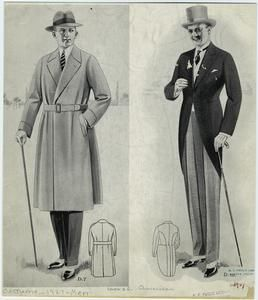 Man Wearing Overcoat And Man Wearing Tailcoat United States 1920s 1920s Mens Fashion 1920s Mens Clothing Vintage Clothing Men