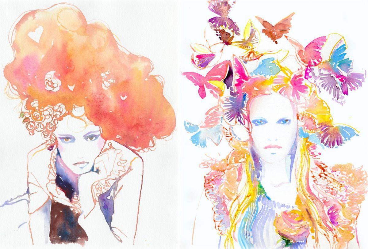 Cate Parr Fashion Illustrator Aquarelle Fashion Girl