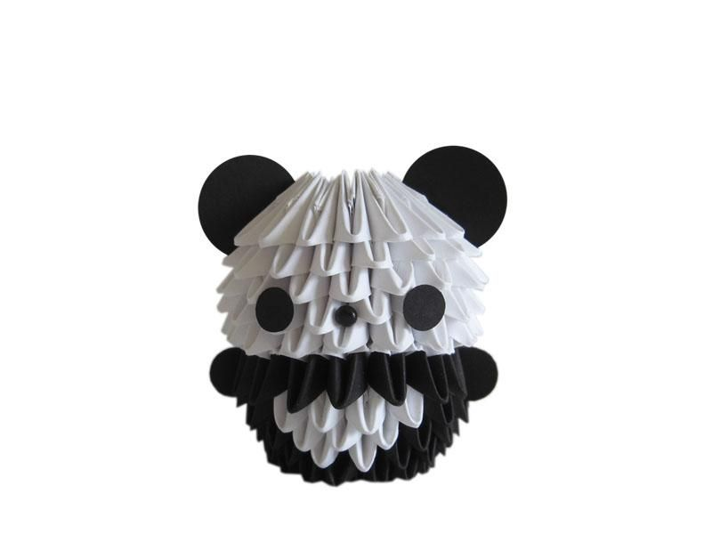 3D Origami Mini Panda O This Cute Is Made Out Of Multiple Folded Triangles Although With Paper Our Creations Are Quite Sturdy