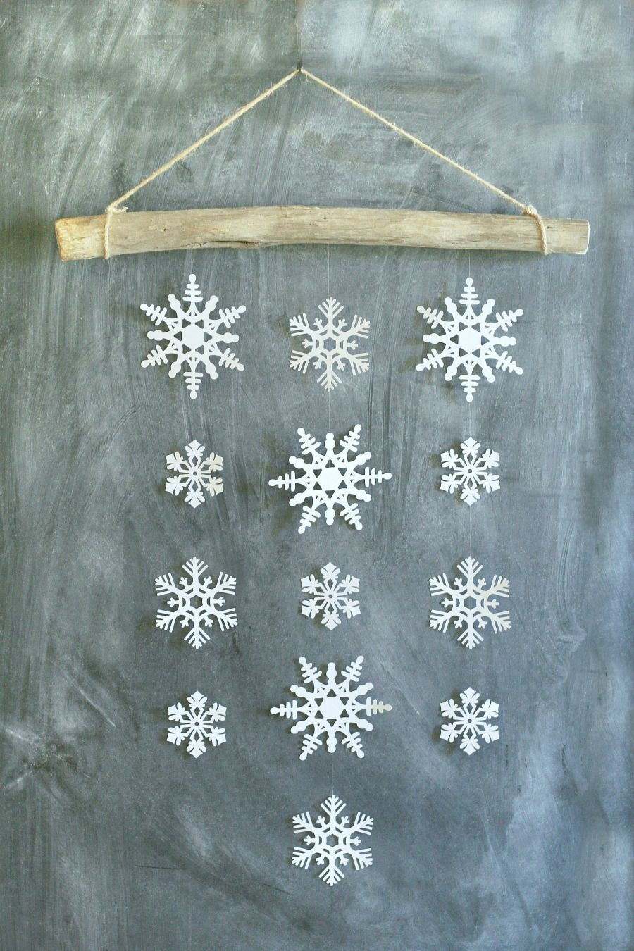 Simple Snowflake Wall Hanging Winter Decor Diy snowflake