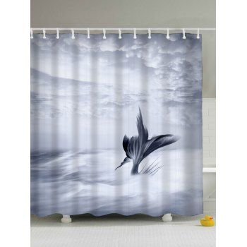 Fish Tail Eco Friendly Water Resistant Shower Curtain Curtains Mermaid Shower Curtain Shower Curtain
