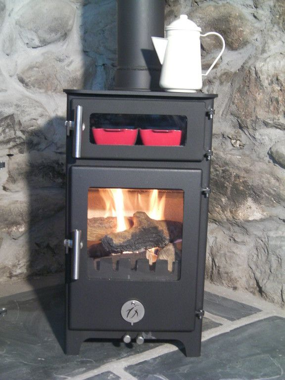 Hungry Penguin Glass Oven Door Multi Fuel Stove Stove