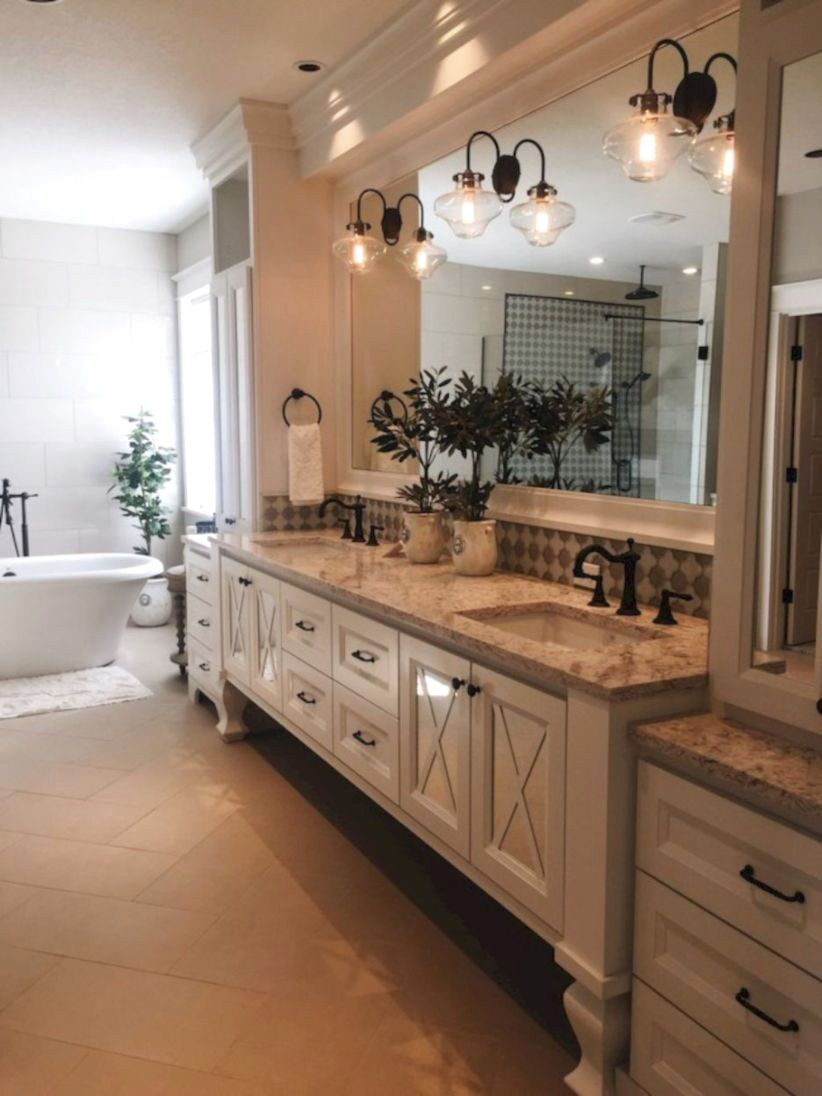 40 cool farmhouse bathroom remodel ideas rustic master on beautiful farmhouse bathroom shower decor ideas and remodel an extraordinary design id=88321