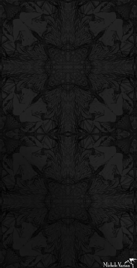 Nymph Wallpaper Black on Black from Michele Varian