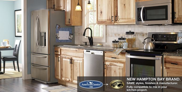 Medium image of hampton natural hickory kitchen cabinets   raised panel   traditional overlay   american classics cabinets by