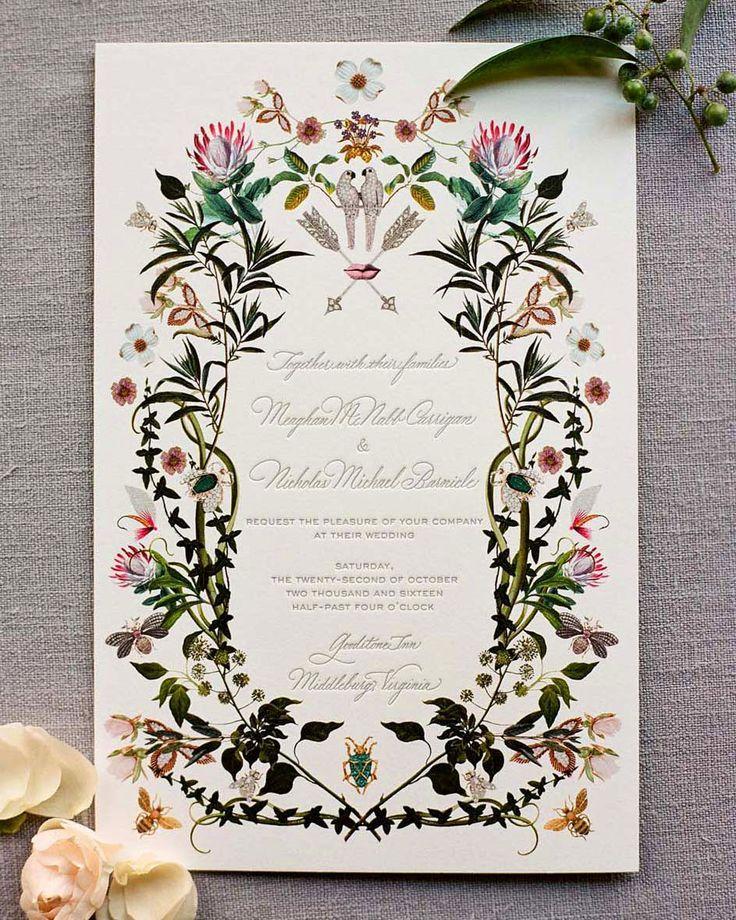 Fall Themed Wedding Invitations: A Botanical-Themed Fall Wedding In Virginia