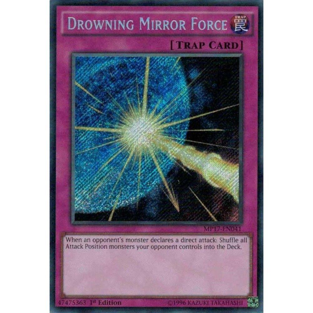 Secret Rare MP17-EN041 1st Edition Drowning Mirror Force 2017 Mega-Tin Mega Pack 1st Edition