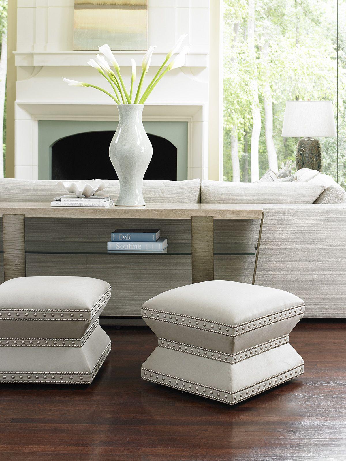 Laurel Canyon Wheatley Ottoman  Lexington Home Brands  Stool Extraordinary Living Room Ottoman Decorating Inspiration