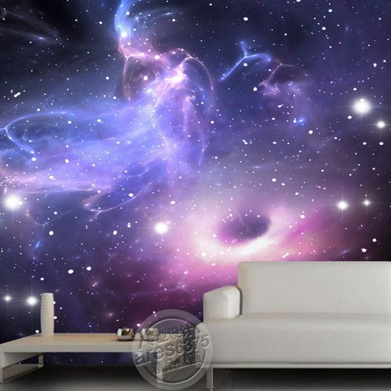 universe stars galaxy Ceiling or wall mural  Room ideas  Galaxy room Bedroom background