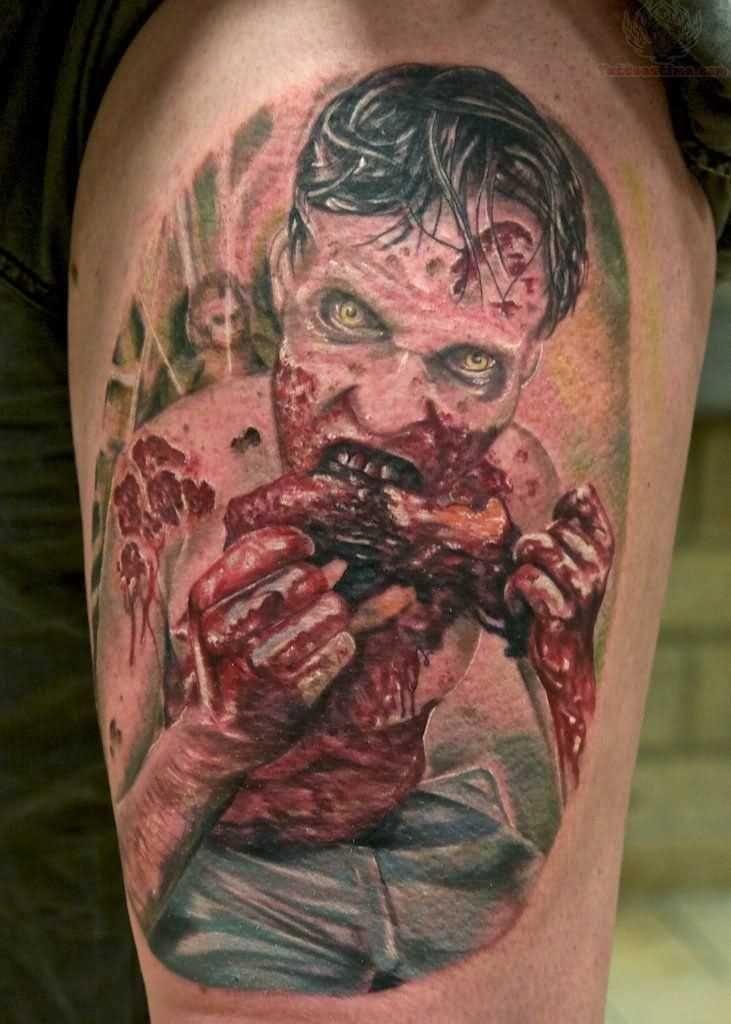 3d Zombi Design For Half Sleeve Tattoo Ideas For Men Zombie