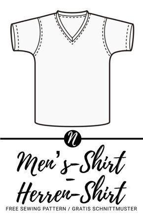 Herren-T-Shirt mit V-Ausschnitt | Pinterest | Ausdrucken, Ausschnitt ...