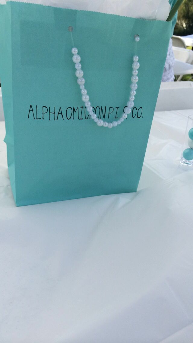 AOII bid day party Tiffany and co