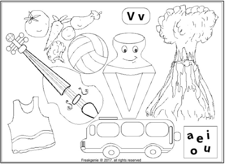 V Coloring Sheet Coloring Sheets Color Activities Learning Colors