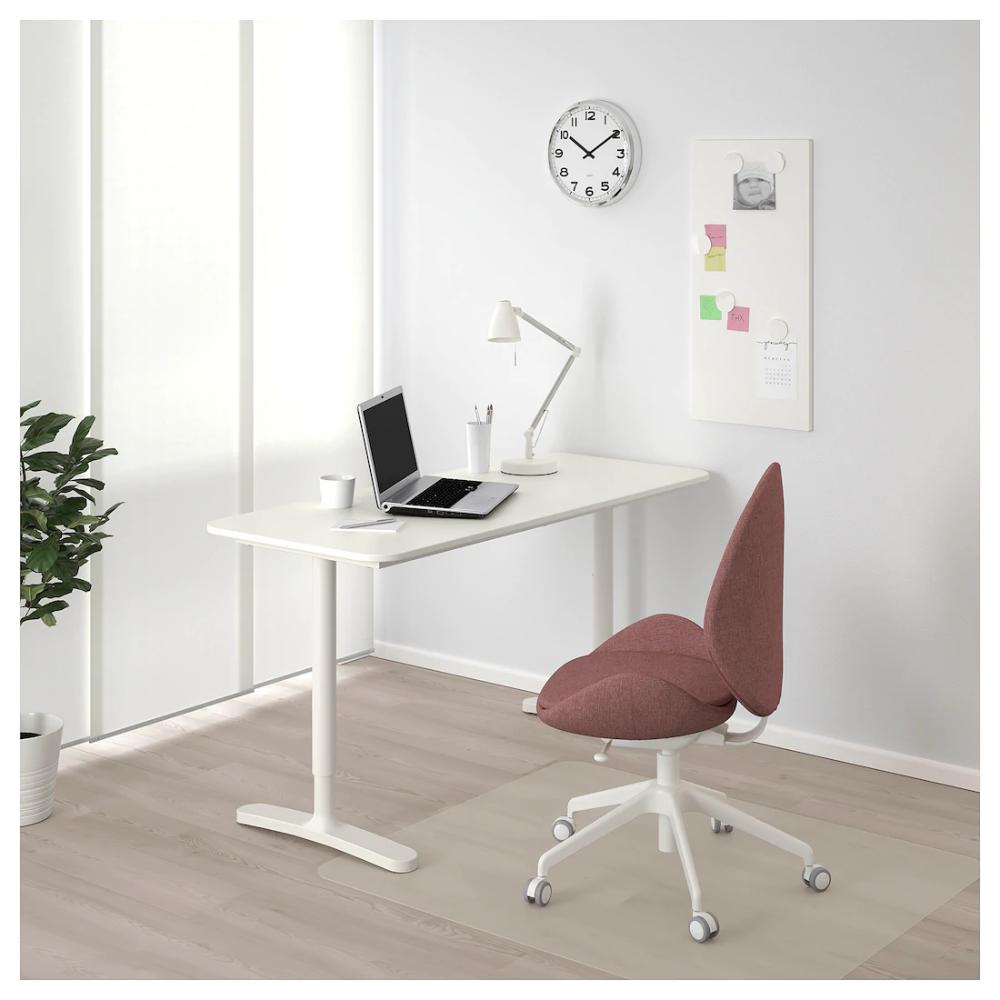 Bekant Desk White 55 1 8x23 5 8 Ikea Ikea Bekant Desk Ikea Bekant Desk