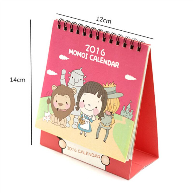 Four Colors Cute Cartoon Characters Standing Desk